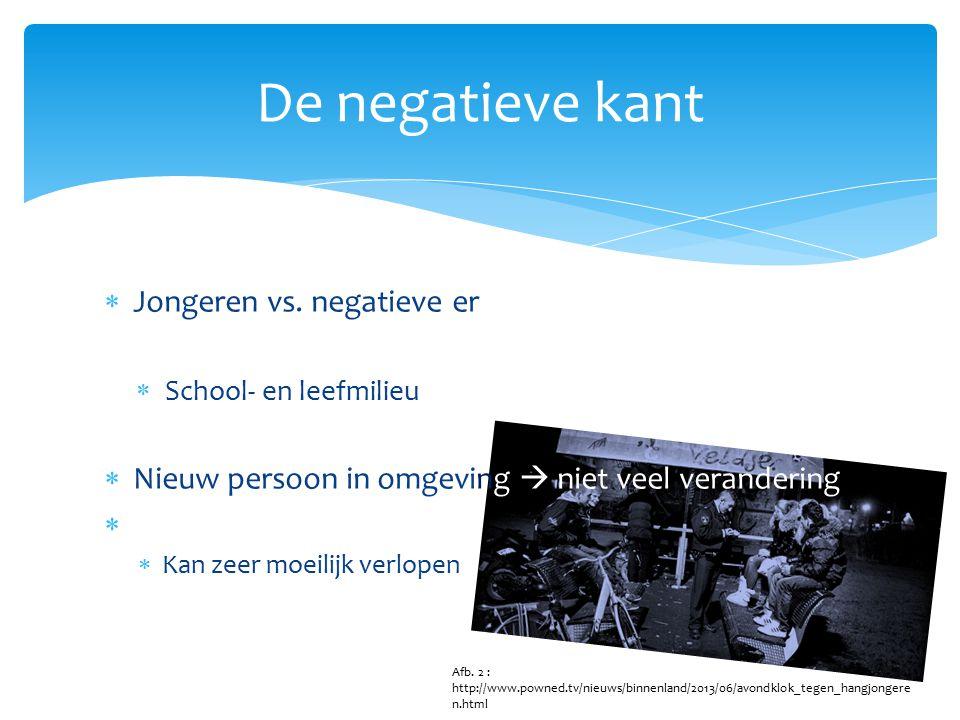 De negatieve kant Jongeren vs. negatieve ervaringen