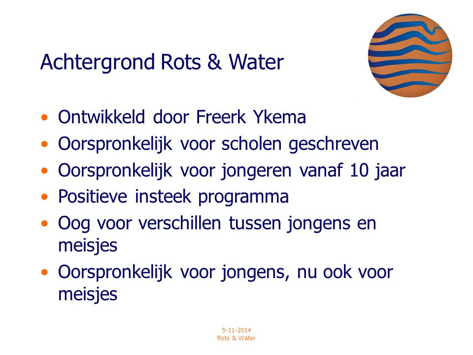 Achtergrond Rots & Water