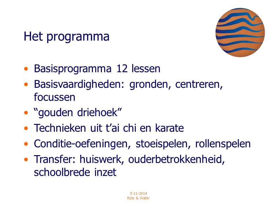 Het programma Basisprogramma 12 lessen