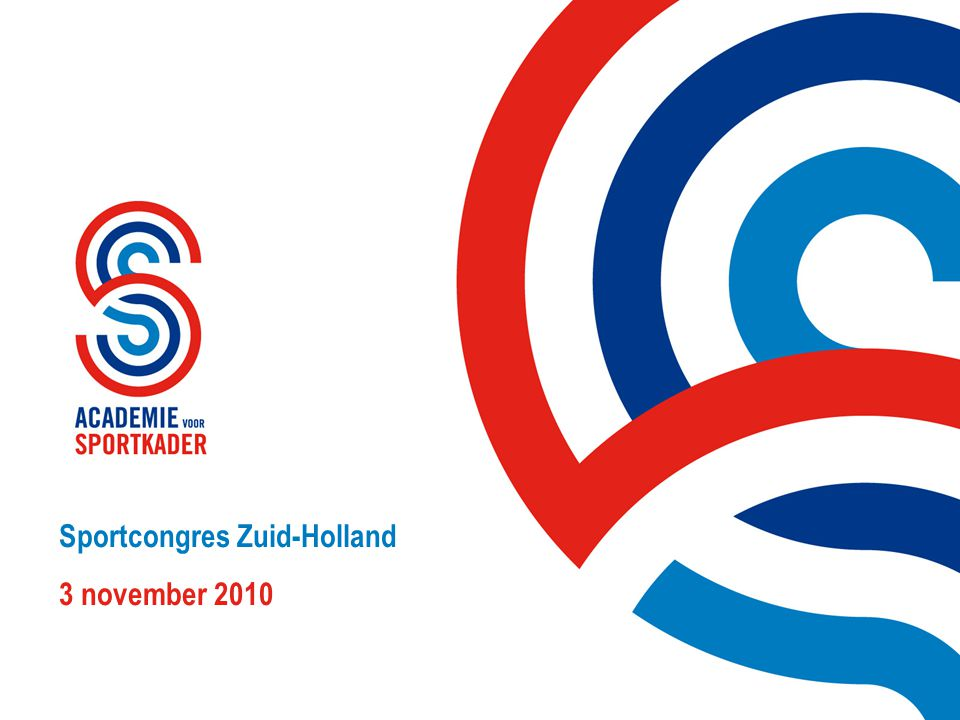 Sportcongres Zuid-Holland 3 november 2010
