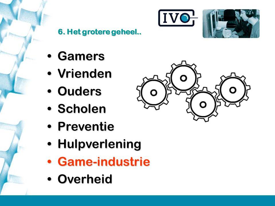 Gamers Vrienden Ouders Scholen Preventie Hulpverlening Game-industrie
