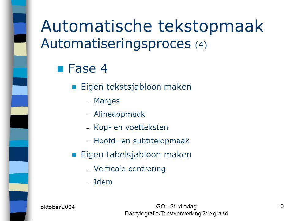 Automatische tekstopmaak Automatiseringsproces (4)