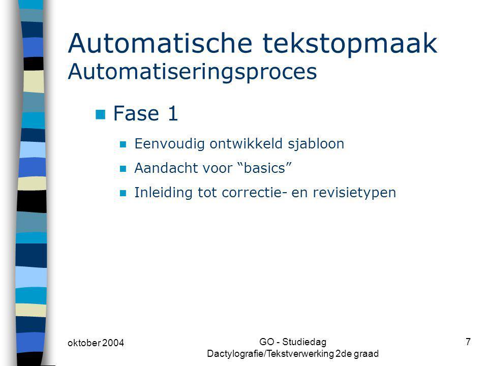 Automatische tekstopmaak Automatiseringsproces
