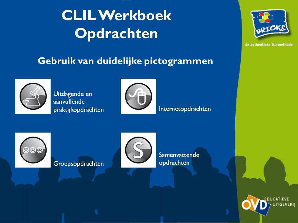 CLIL Werkboek Opdrachten Gebruik van duidelijke pictogrammen