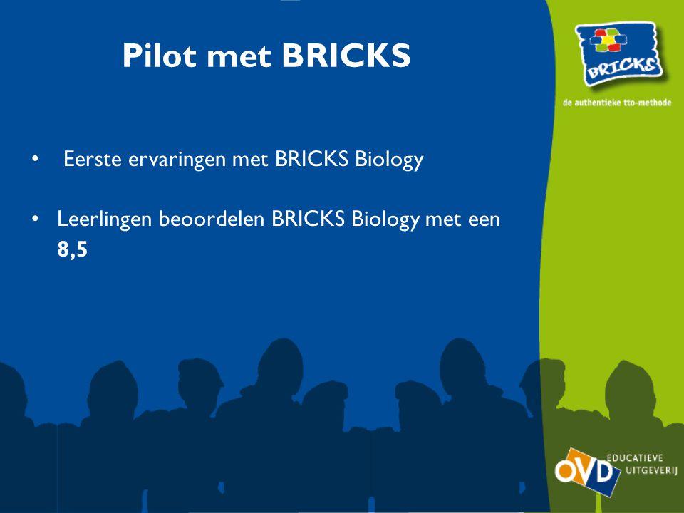 Pilot met BRICKS Eerste ervaringen met BRICKS Biology