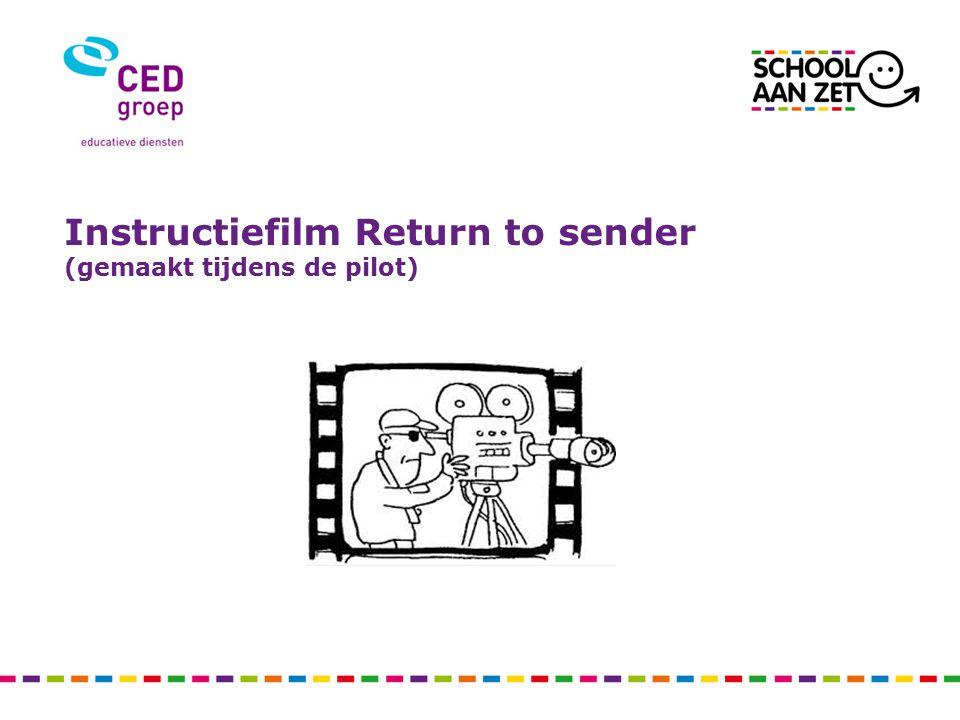 Instructiefilm Return to sender (gemaakt tijdens de pilot)