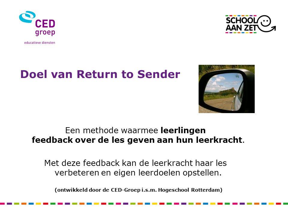 (ontwikkeld door de CED-Groep i.s.m. Hogeschool Rotterdam)