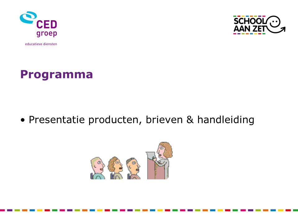 Programma Presentatie producten, brieven & handleiding