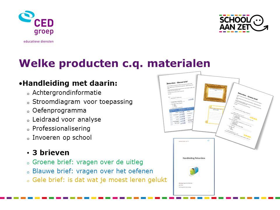 Welke producten c.q. materialen