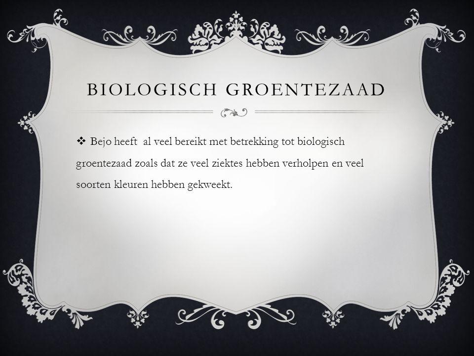 Biologisch groentezaad