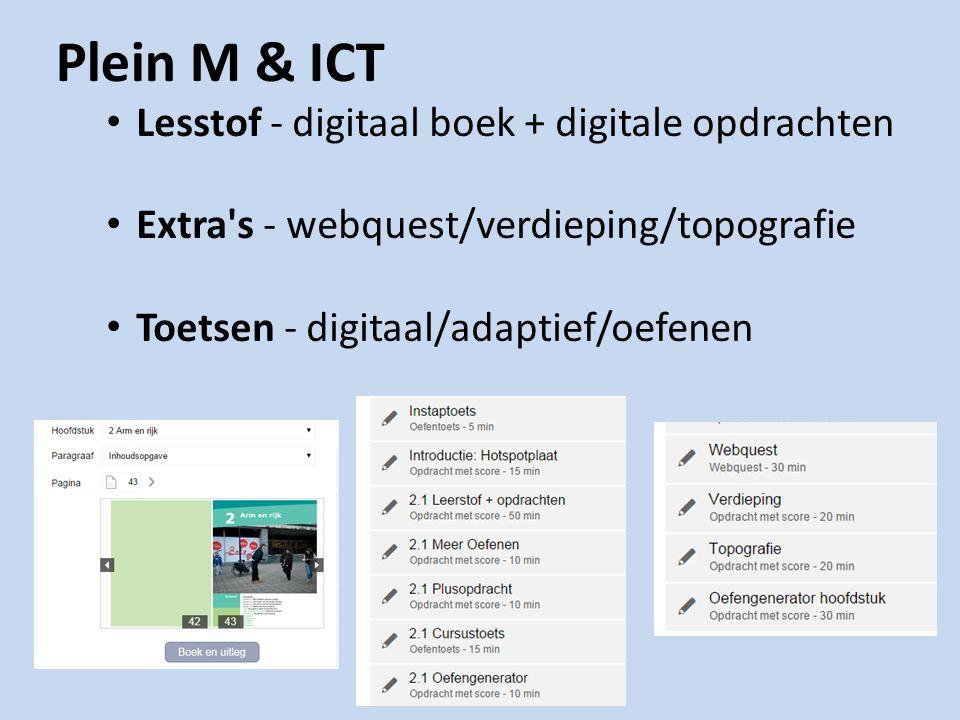 Plein M & ICT Lesstof - digitaal boek + digitale opdrachten