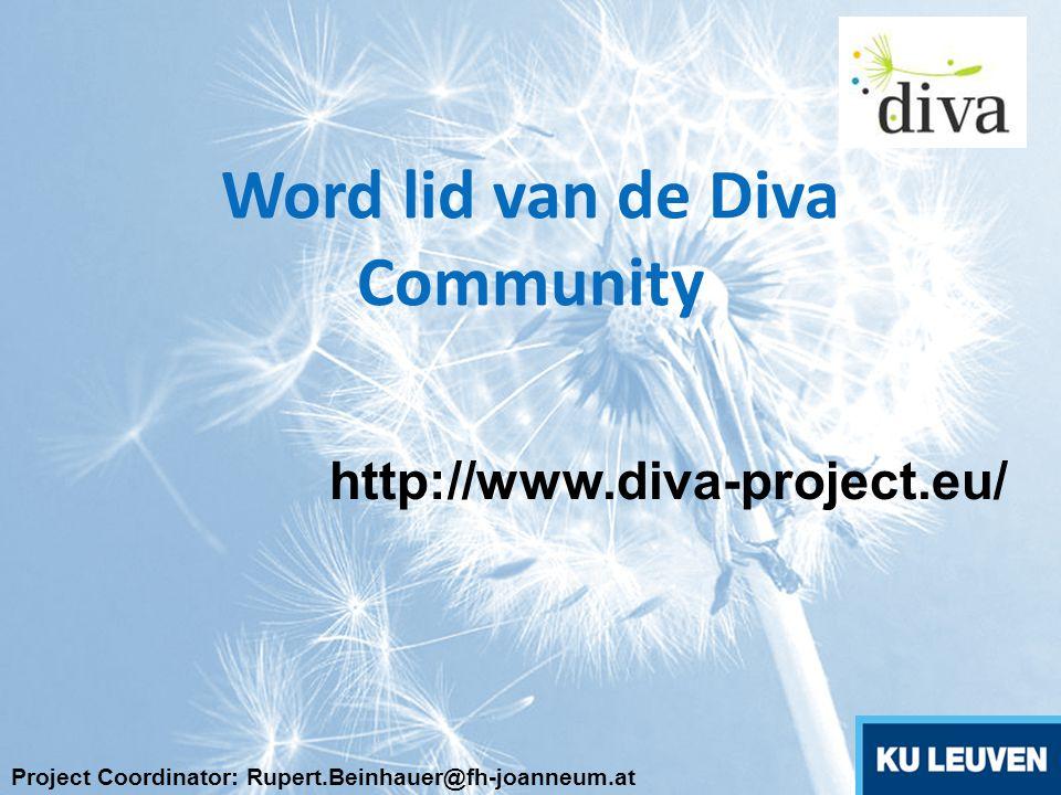 Word lid van de Diva Community