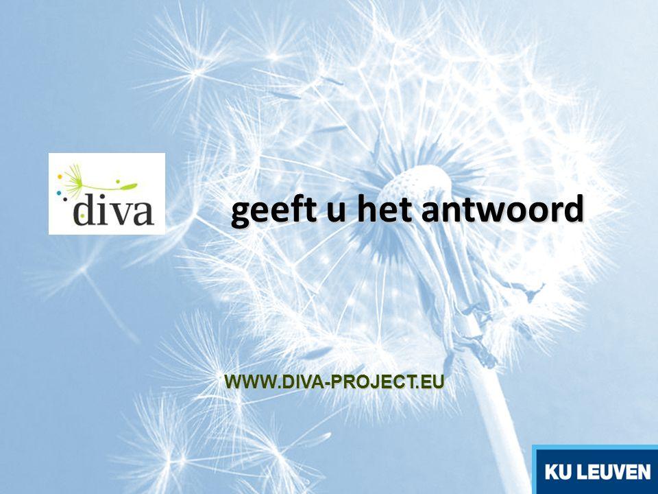 geeft u het antwoord WWW.DIVA-PROJECT.EU