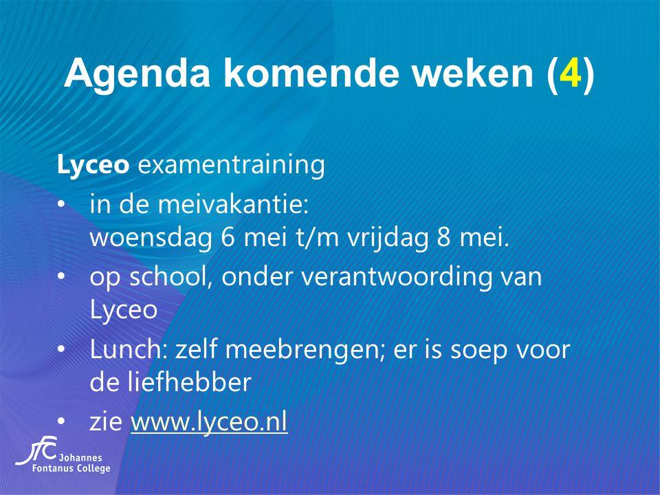Agenda komende weken (4)