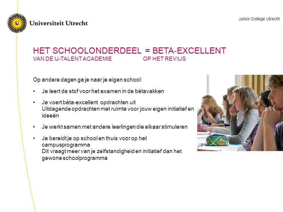 HET SCHOOLONDERDEEL = BETA-EXCELLENT