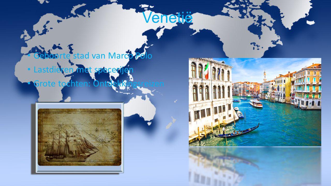 Venetië Geboorte stad van Marco Polo Lastdieren met specerijen