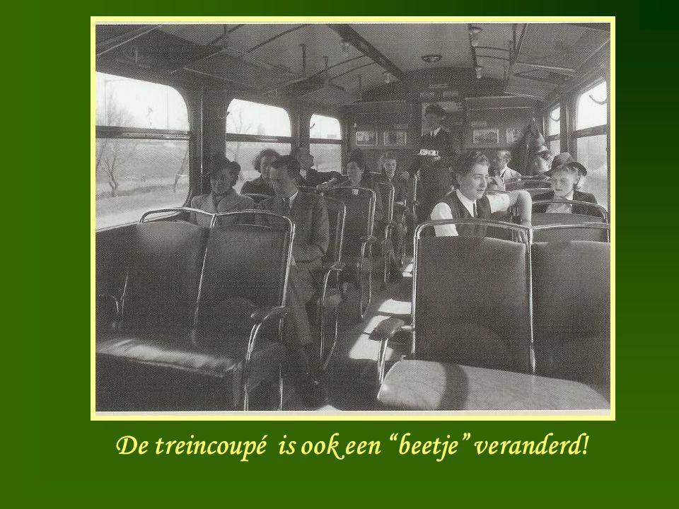 De treincoupé is ook een beetje veranderd!