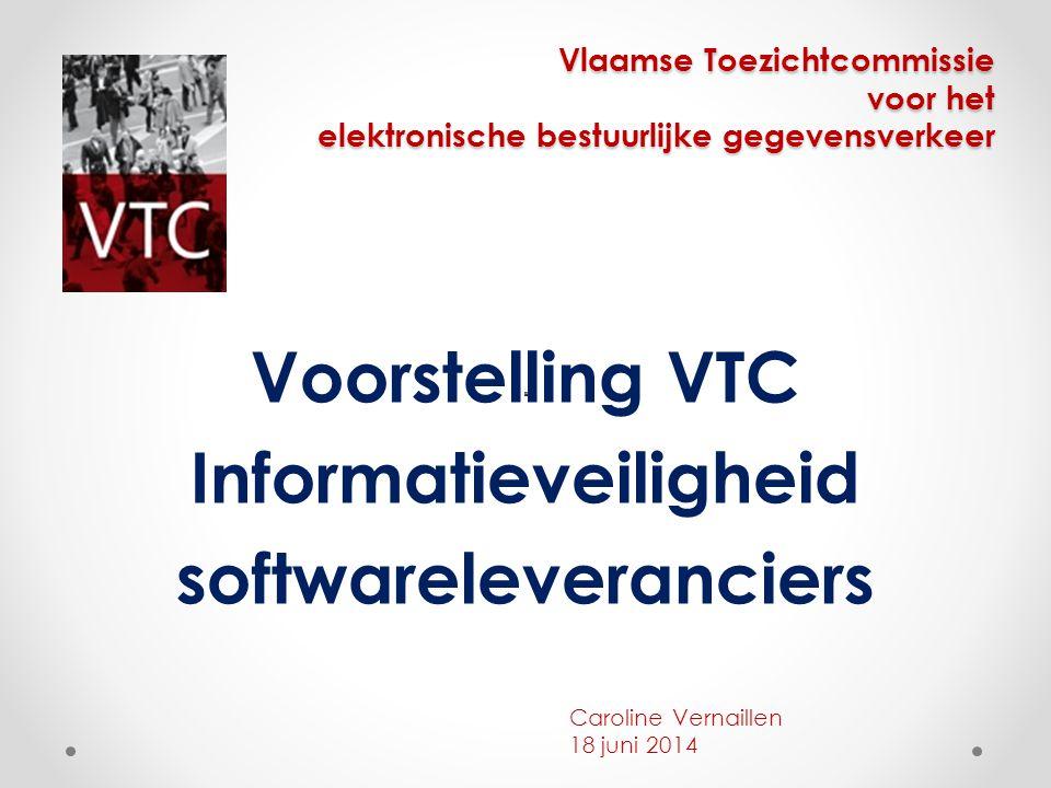 Voorstelling VTC Informatieveiligheid softwareleveranciers