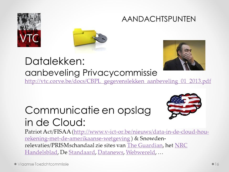 Communicatie en opslag in de Cloud: