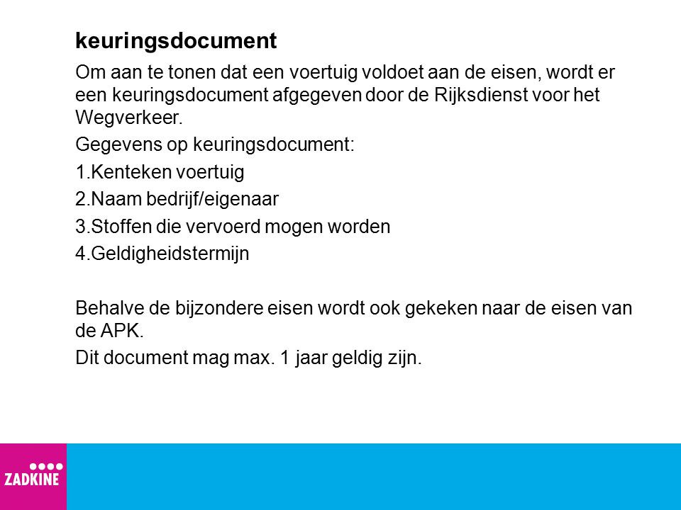 keuringsdocument