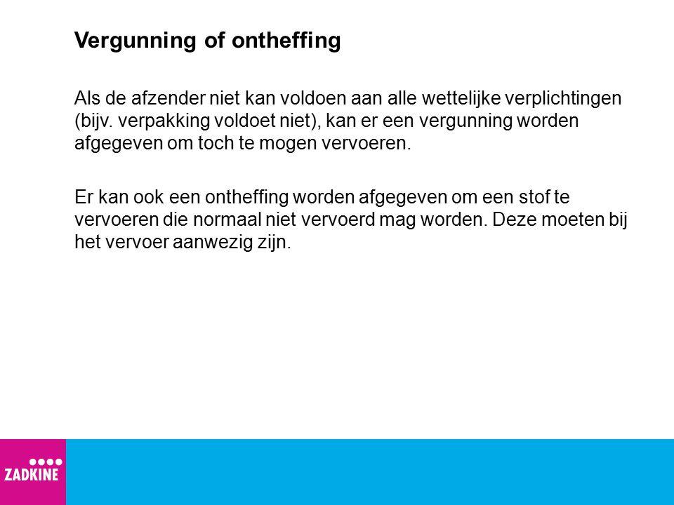 Vergunning of ontheffing