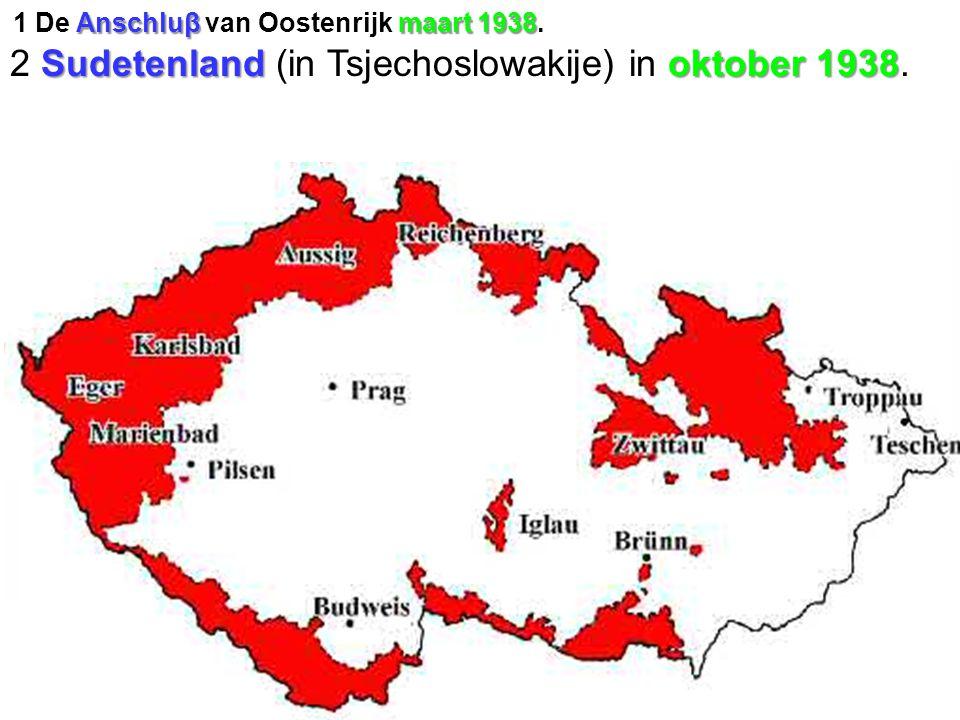 2 Sudetenland (in Tsjechoslowakije) in oktober 1938.
