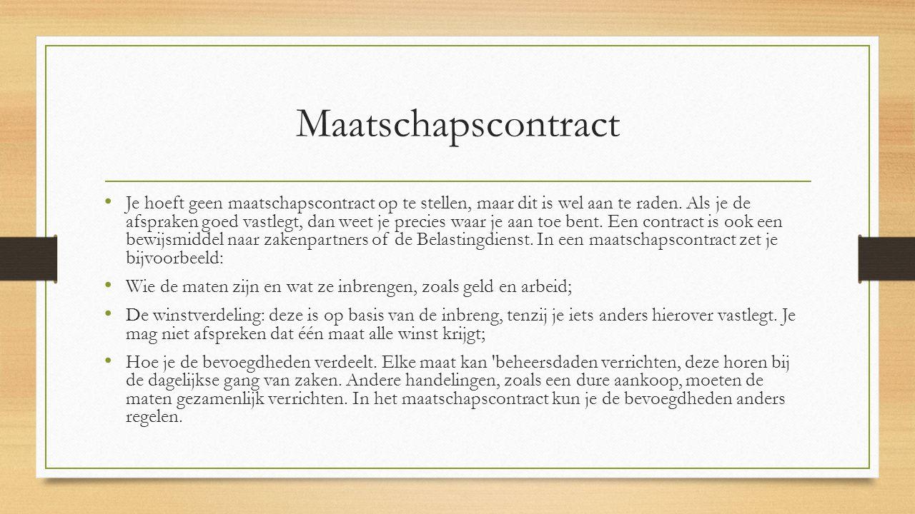 Maatschapscontract