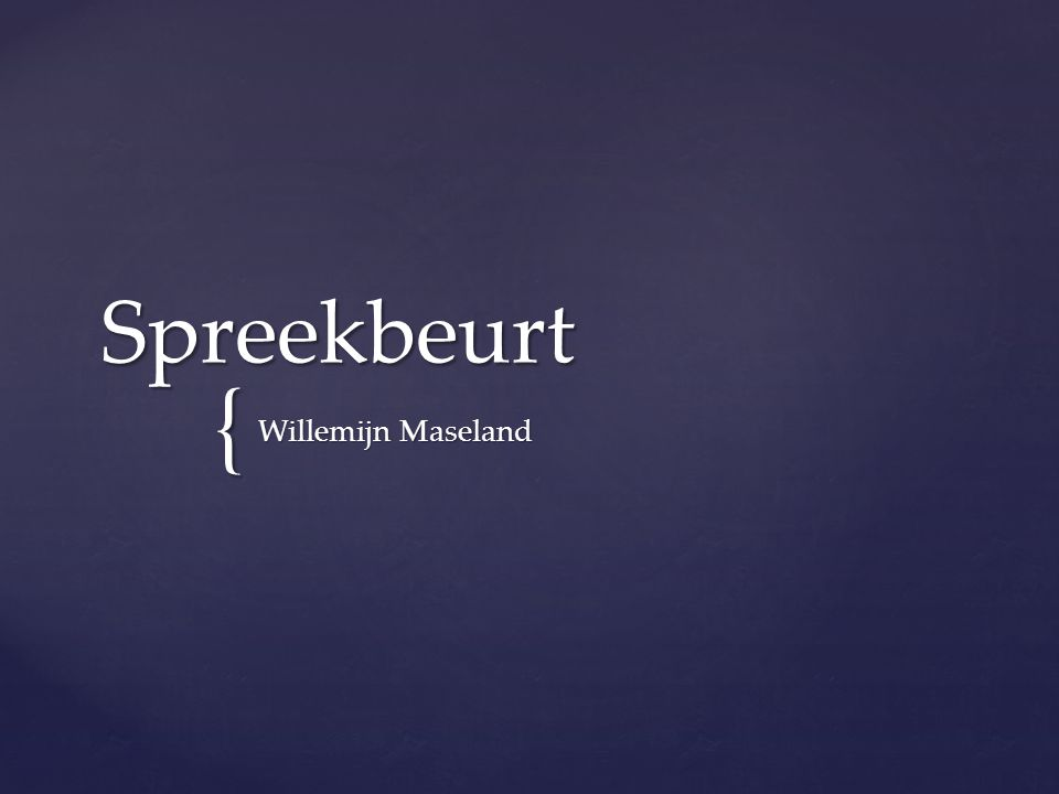 Spreekbeurt Willemijn Maseland