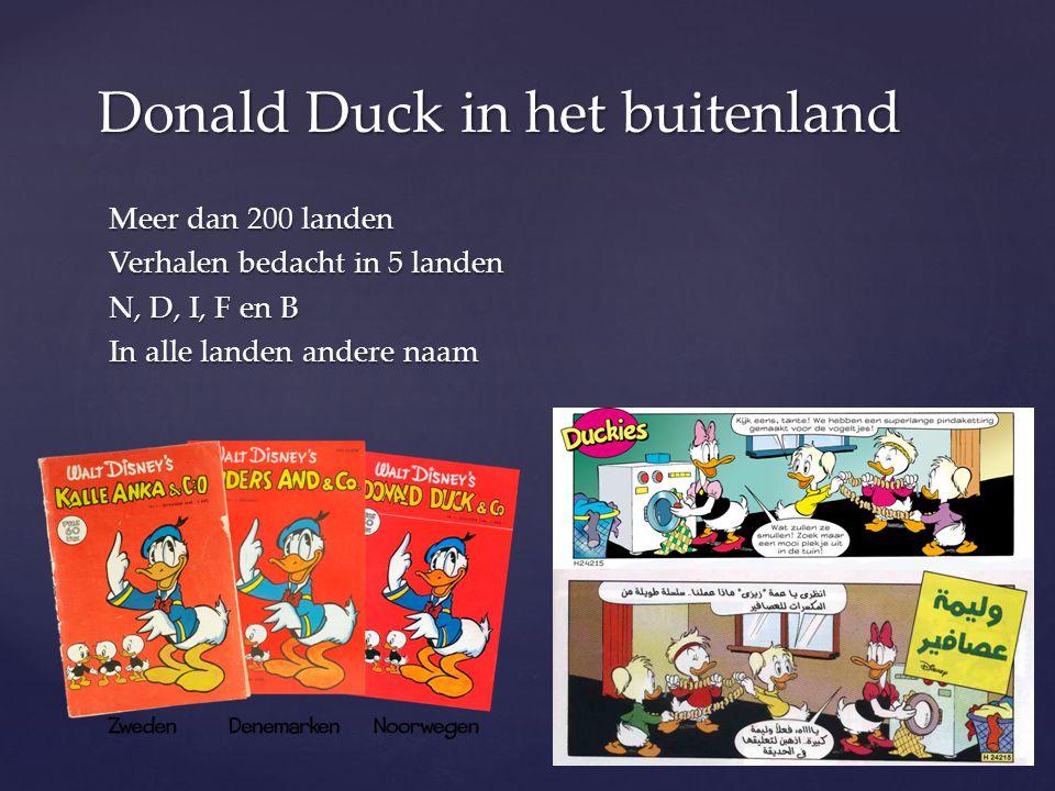 Donald Duck in het buitenland