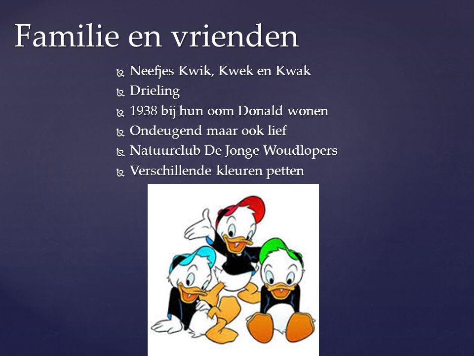 Familie en vrienden Neefjes Kwik, Kwek en Kwak Drieling