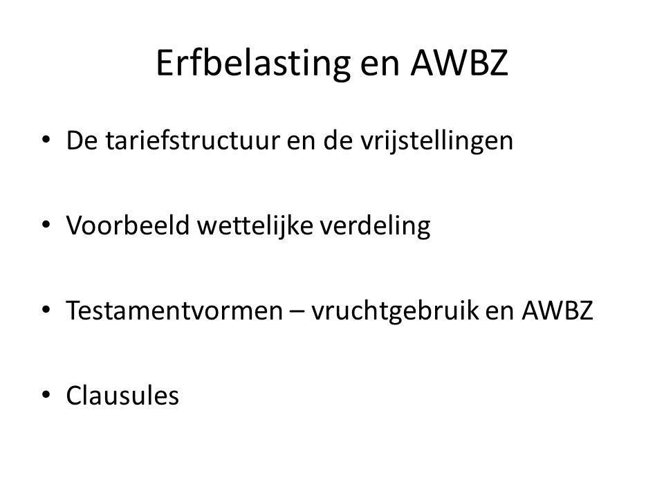 Erfbelasting en AWBZ De tariefstructuur en de vrijstellingen