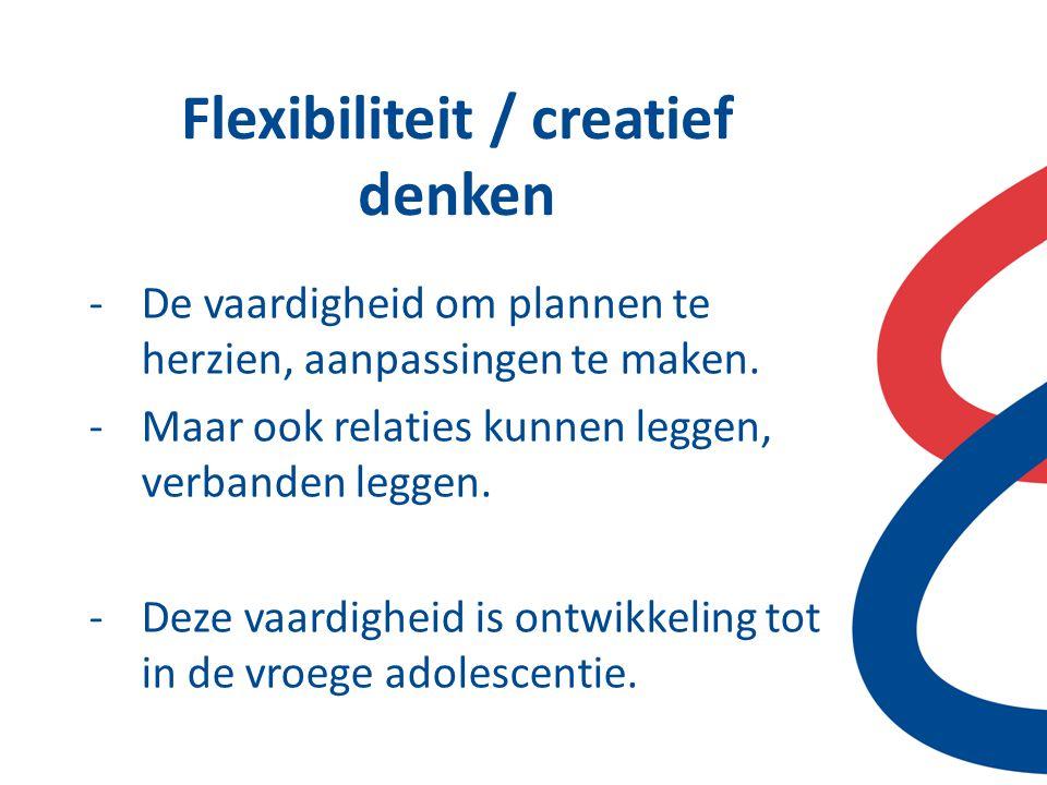 Flexibiliteit / creatief denken