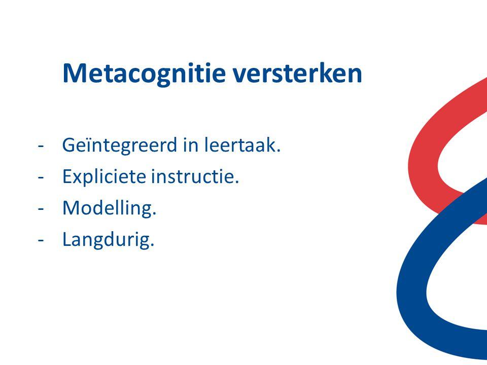 Metacognitie versterken