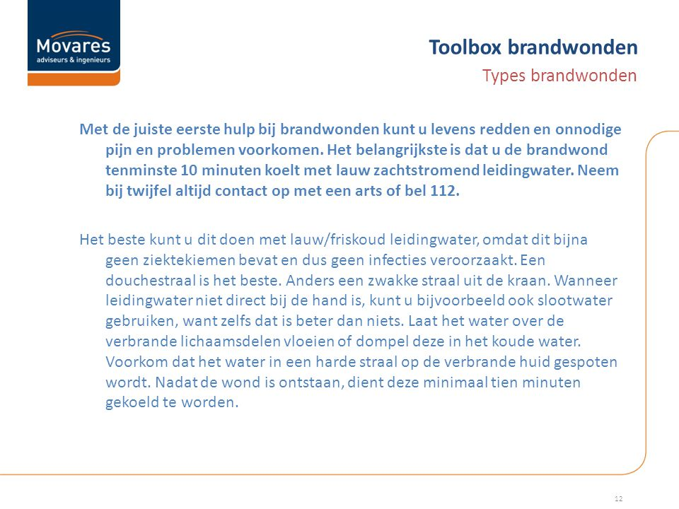 Toolbox brandwonden Types brandwonden