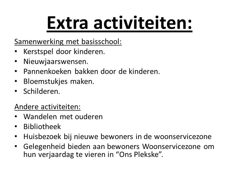 Extra activiteiten: Samenwerking met basisschool: