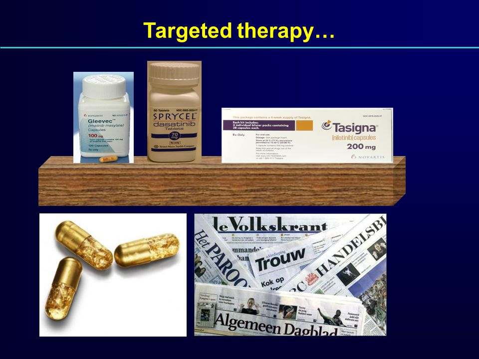 Targeted therapy… Imatinib 1 dd 400 mg 31.000