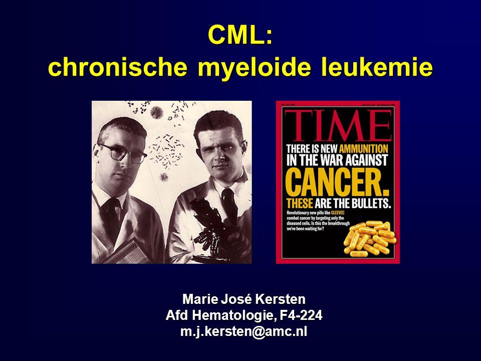 CML: chronische myeloide leukemie