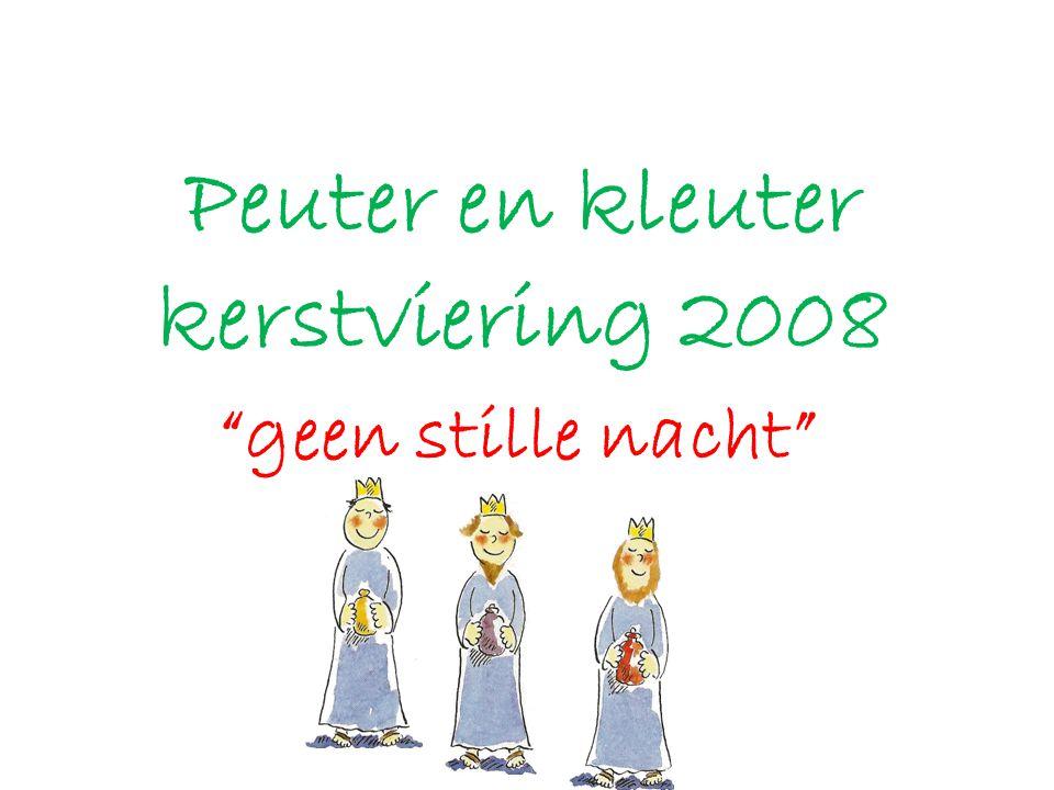 Peuter en kleuter kerstviering 2008
