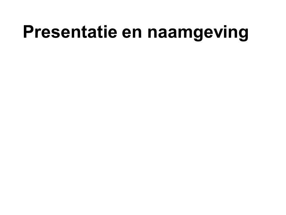 Presentatie en naamgeving