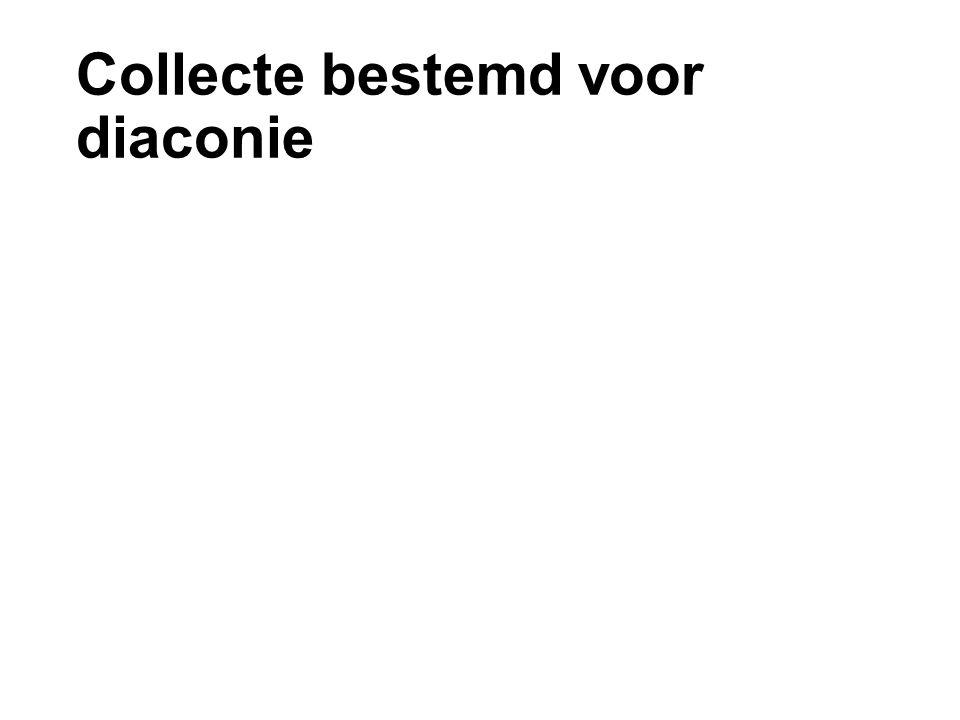 Collecte bestemd voor diaconie