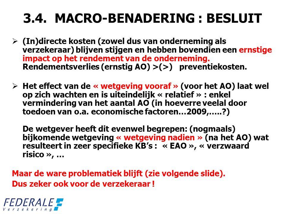 3.4. MACRO-BENADERING : BESLUIT
