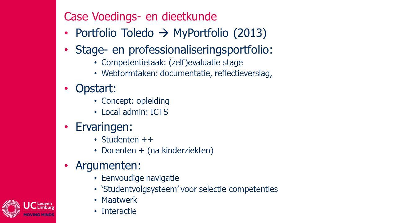 Case Voedings- en dieetkunde Portfolio Toledo  MyPortfolio (2013)