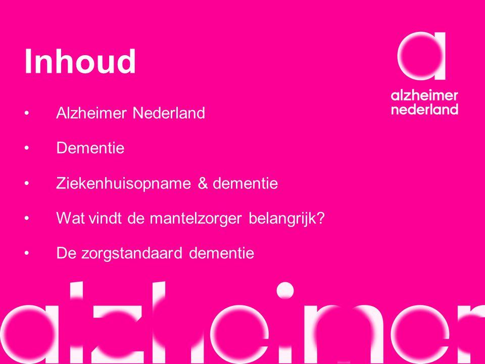 Inhoud Alzheimer Nederland Dementie Ziekenhuisopname & dementie