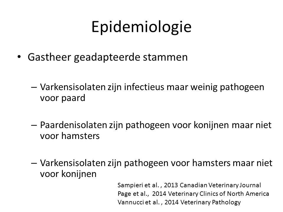 Epidemiologie Gastheer geadapteerde stammen