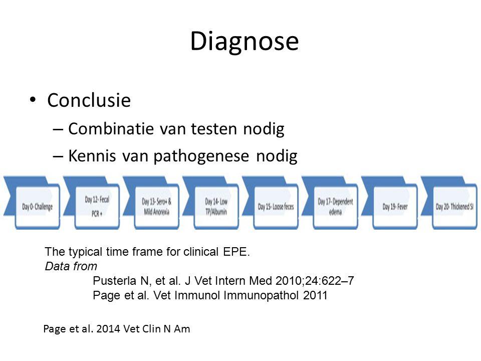 Diagnose Conclusie Combinatie van testen nodig