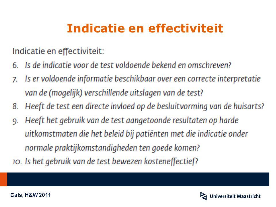 Indicatie en effectiviteit