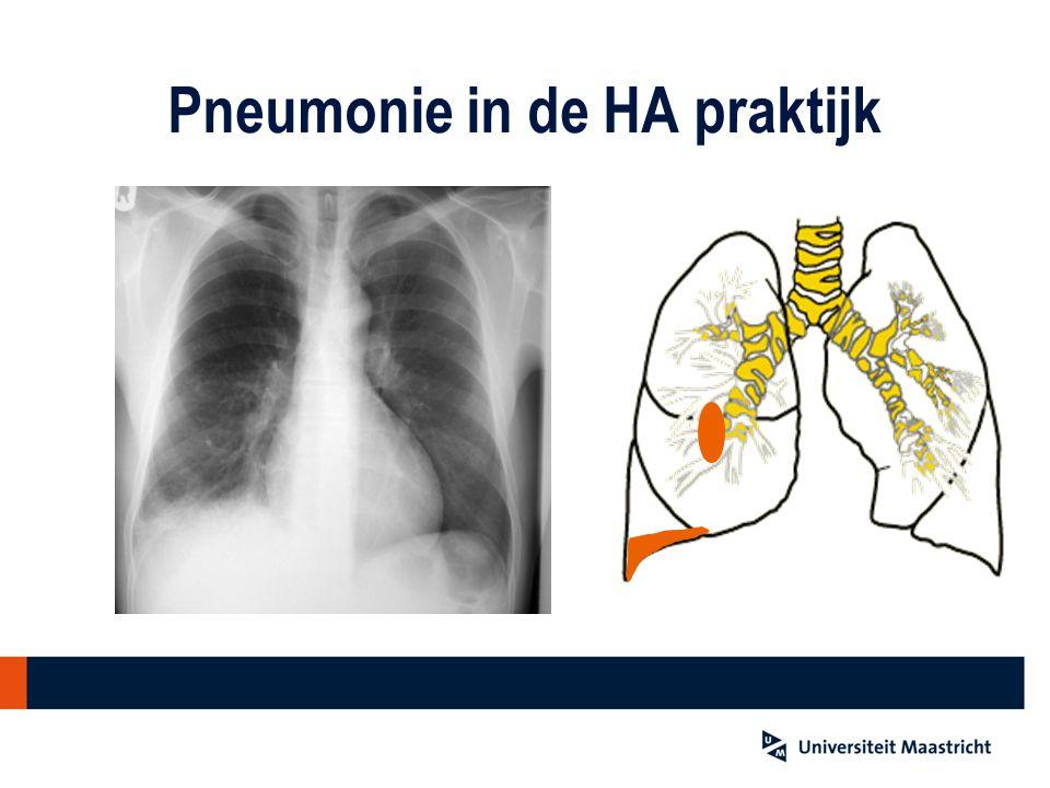 Pneumonie in de HA praktijk