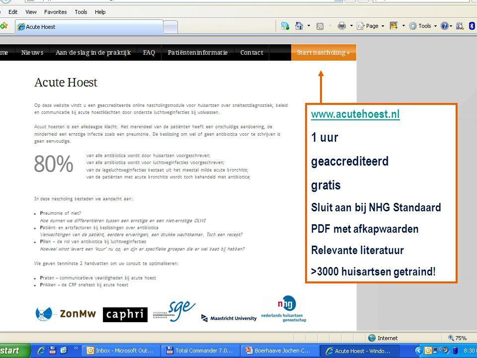 1 uur geaccrediteerd gratis www.acutehoest.nl