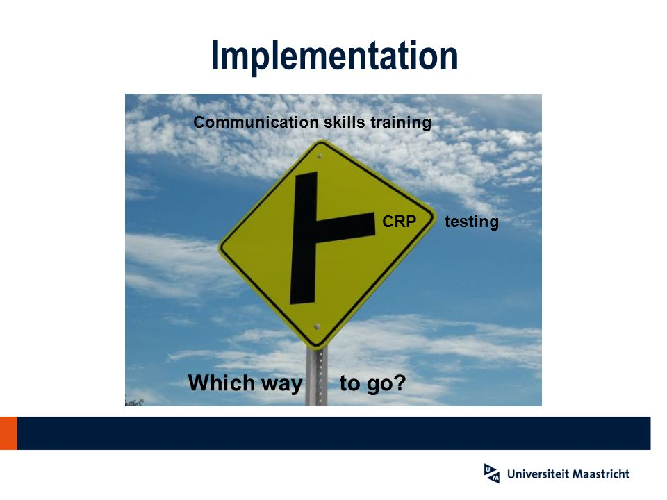 Implementation Which way to go Communication skills training