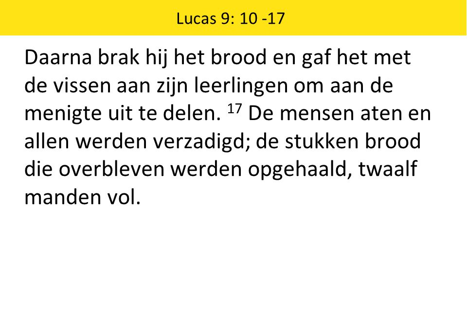 Lucas 9: 10 -17
